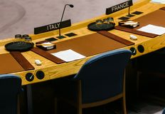 72th session of the UN General Assembly in New York Stock Photography