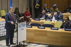 Petro Poroshenko at the 73th session of the UN stock photo