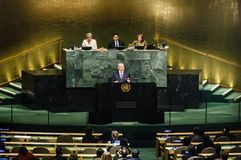 72th session of the UN General Assembly in New York Royalty Free Stock Image