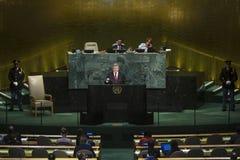 President of Ukraine Petro Poroshenko in UN General Assembly Stock Images