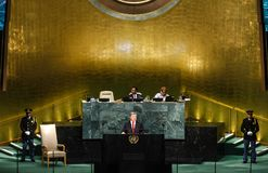 72th session of the UN General Assembly in New York Royalty Free Stock Images