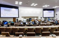 Work of journalists during the UN General Assembly Royalty Free Stock Images