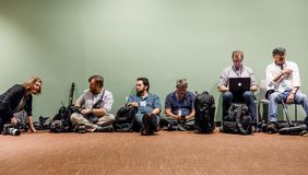 Work of journalists during the UN General Assembly Stock Photo