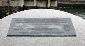 American Merchant Mariner`s Memorial Plaque located at Battery Park in downtown Manhattan. Stock Photography