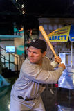 NEW YORK, USA - SEPTEMBER 27, 2013: Babe Ruth wax figure at Mada Royalty Free Stock Image