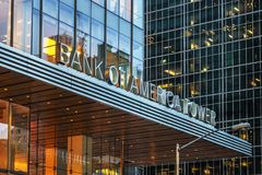 The Bank of America Tower stock photos
