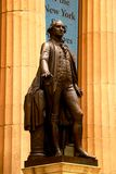New York, USA - September 2, 2018: Facade of the Federal Hall with Washington Statue on the front, Manhattan, New York City.  royalty free stock photography