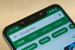 Google play market menu royalty free stock photo