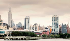 Manhattan Waterfront at Pier 64 along the Hudson River Stock Photos