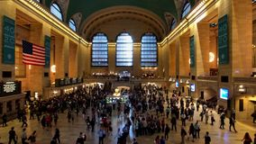 Passengers moving at Grand Central time lapse stock video