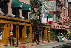 NEW YORK - USA September 12  2016 Typical Italian restaurant in Royalty Free Stock Images