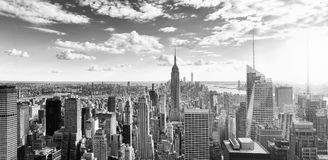 View of Manhattan from the skyscraper`s observation deck. New Yo royalty free stock images