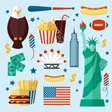 New York USA set Stock Photo