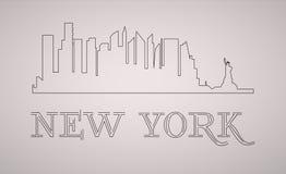 New York USA skyline and landmarks silhouette, black and white design, illustration. New York USA skyline and landmarks silhouette, black and white design royalty free illustration