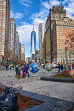 New York, USA. Street view, buildings and life around Battery Park. Royalty Free Stock Photography