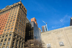 New York, USA. Street view, buildings and life around Battery Park. Stock Photos