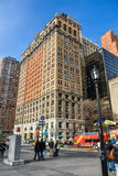 New York, USA. Street view, buildings and life around Battery Park. Royalty Free Stock Image