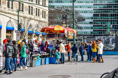 New York, USA. Street view, buildings and life around Battery Park. Stock Photo