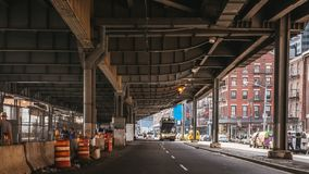 Under the bridge, FDR Drive stock image