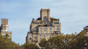 View at buildings from Central Park royalty free stock images