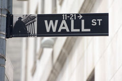 NEW YORK - USA wall street stock exchange sign Stock Photo