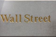 NEW YORK - USA wall street stock exchange sign. NEW YORK - USA - 11 JUNE 2015 wall street sign Stock Photo
