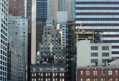 New York vägg av skyskrapor Royaltyfria Bilder