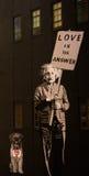 New York väggmålningar - Albert Einstein arkivbilder