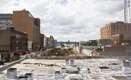 New York västra sidosikt Fotografering för Bildbyråer