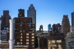 New York van een dak Stock Afbeelding