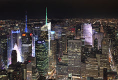 New York van Empire State Building 's nachts, de V.S. Stock Fotografie