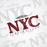 New york varsity theme Stock Photos