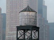 New York vattenbehållare arkivfoto