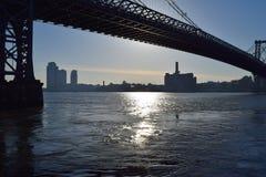 New York vattenväg Arkivfoto