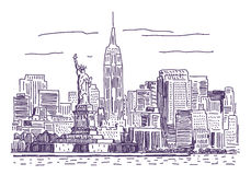 New York vector drawing Stock Photo