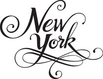 New York. Vector version of my own calligraphy Royalty Free Stock Photos