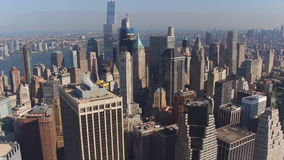 New York vew from a height, filming with drone stock video