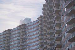 New York vid Gehry royaltyfri foto