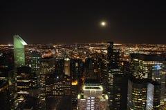 New York vid natt 1 Royaltyfri Fotografi