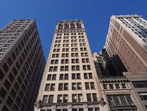 New York, vieux immeubles de bureaux Photographie stock libre de droits