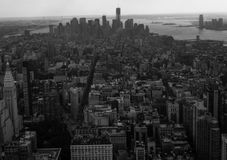 New york view. A view of new york city,in black and white color,on the top of empire state building Royalty Free Stock Photos