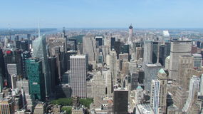 New York view from high. Vew of the central park from the Empire State Building Stock Photos