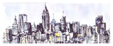 New York view Stock Image