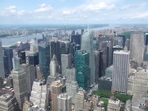 New York view. View of Manhattan from the Empire State Observation Deck Royalty Free Stock Photos