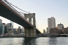 New York. View on one of the bridges in Manhattan. View on Manhattan Royalty Free Stock Images