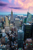 New York skyline from Rockefeller Center Royalty Free Stock Image