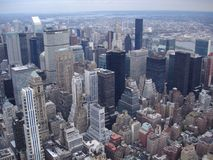 New York view. Rooftop New York cityscape Stock Image