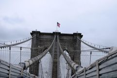 New York view of the suspension bridge Stock Images