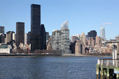 New York view to Manhattan from Long Island, USA Royalty Free Stock Photo