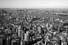 New York view from a tower. New York City.  View from Empire State Building Stock Photo